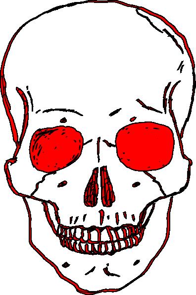 red skull clip art at clker com vector clip art online royalty rh clker com clipart skull and crossbones clipart skull and crossbones for no smoking