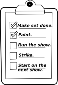 Tech Theatre To Do List Clip Art