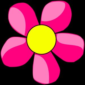 hot pink flower clip art at clker com vector clip art online rh clker com pink flower clipart free pink flower clip art images