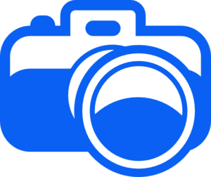 Blue Camera Pictogram Clip Art