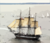 Uss Constitution Under Sail. Clip Art