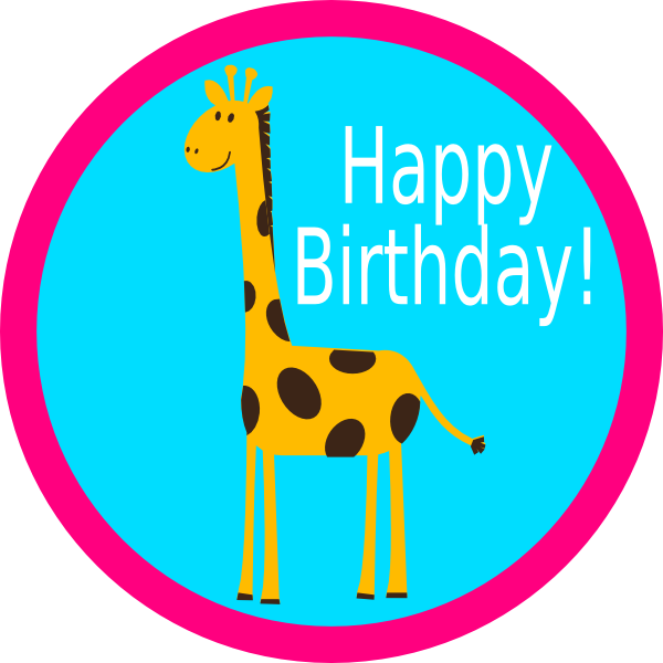 Giraffe Cupcake Topper 2 Clip Art At Clker Com Vector