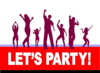 Lets Party Dance Coloured Clip Art