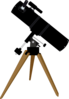 Reflector Telescope Clip Art