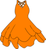 Orange Dress 2 Clip Art