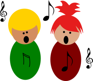 Children Singing3 Clip Art