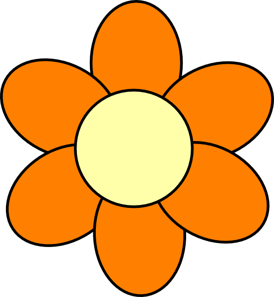 Orange Flower Clip Art At Clker Com Vector Clip Art