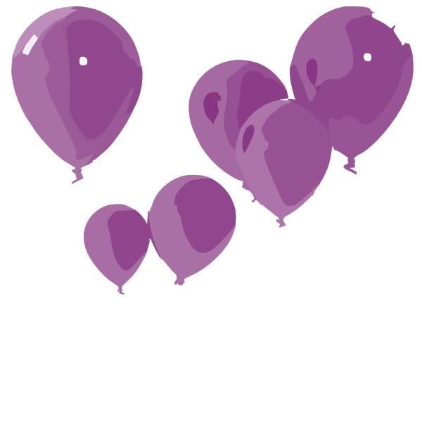 Purple Balloons Clip Art at Clker.com - vector clip art ...
