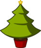 Christmas Tree Simple Clip Art