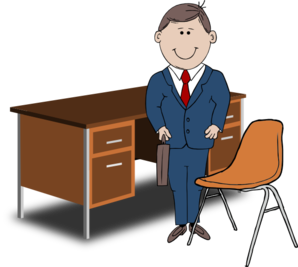 teacher manager between chair and desk clip art at clker com rh clker com manager clipart manager clipart