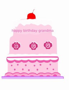 Happy Birthday Grandma 1 Clip Art