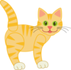 Yellow Striped Cat Clip Art