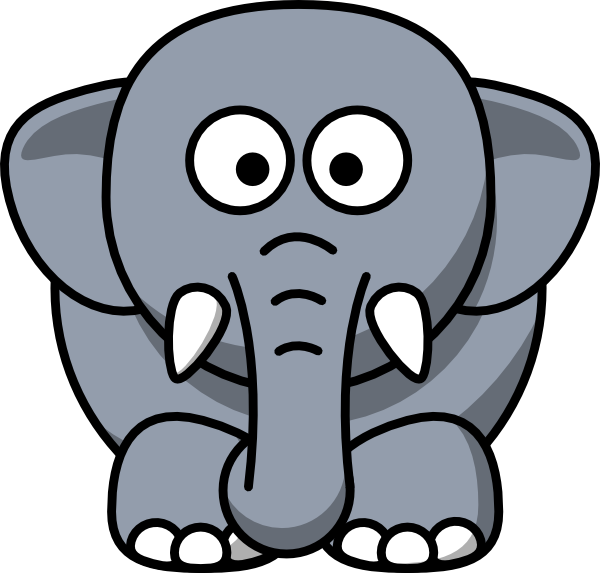 cartoon elephant clip art clip art at clker com vector clip art rh clker com clipart of elephant black and white clipart of elephant face