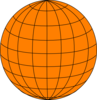 Big Orange Wire Globe Clip Art