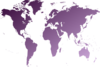 World Map Light Purple Clip Art