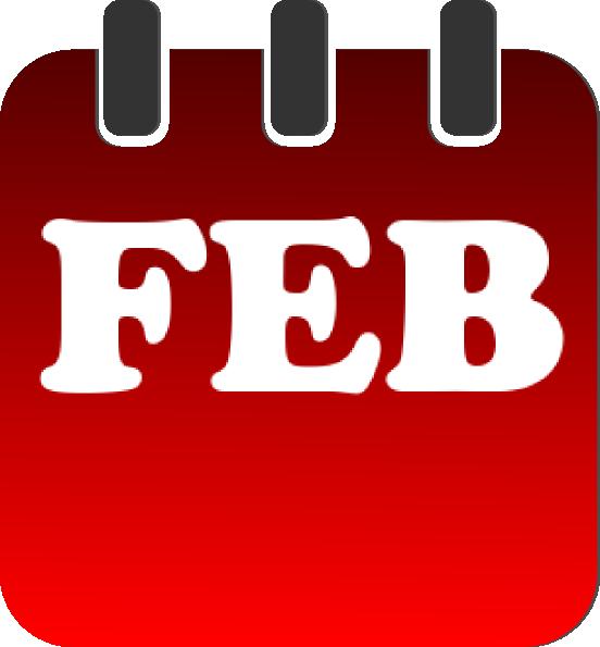 february red calendar clip art at clker com vector clip art online rh clker com february calendar clip art free february calendar heading clipart