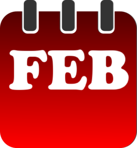 february red calendar clip art at clker com vector clip art online