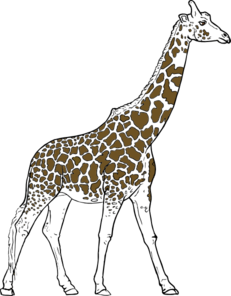 Giraff Animal Outline Clip Art