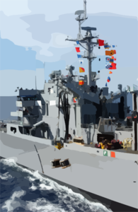 Sacramento Conducts Both An Underway Replenishment Clip Art