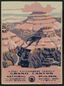 Grand Canyon National Park, A Free Government Service Clip Art