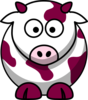 Raspberry Cow Clip Art