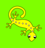 Lizard On Grass Clip Art