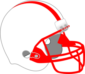 Red And White Helmet Clip Art
