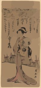The Actor Yamashita Kinsaku In The Role Of Omiya, Seller Of Green Tea (senji-cha). Clip Art