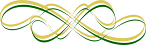 Thicker Gold W/ Thin Green Swirls Clip Art