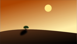 Sunset And Tree Background Clip Art
