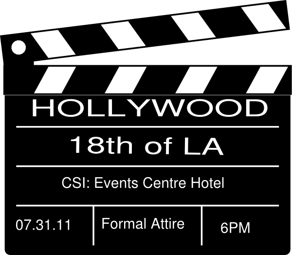 Hollywood Themed Invitation with good invitation template