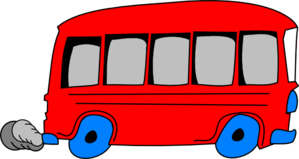 Red School Bus Clip Art