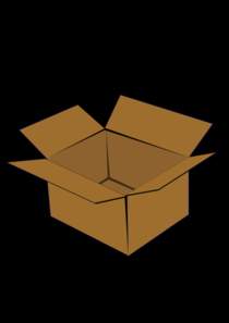 Box With Black Background Clip Art