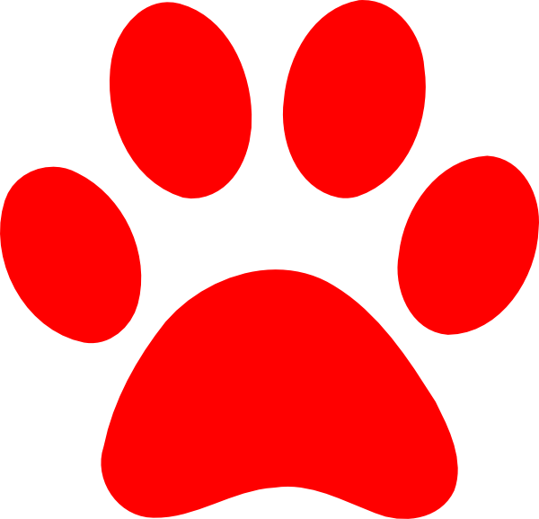 Red Paw Print Clip Art at Clker.com - vector clip art online, royalty ...