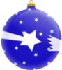 Blue Shooting Star Ornament Clip Art