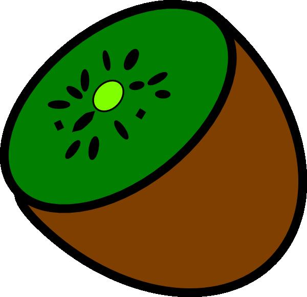 half kiwi clip art at clker com vector clip art online royalty rh clker com kiwi fruit clipart black and white kiwi clipart bird