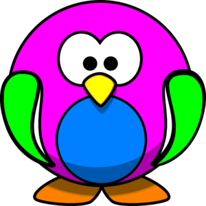 Rainbow Penguin Clip Art