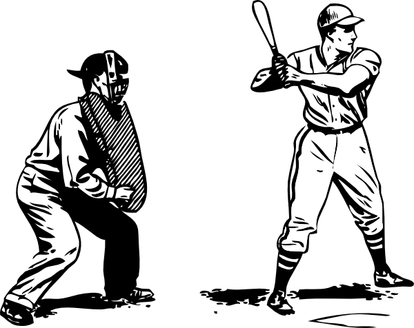 Umpire And Batter Clip Art At Clker Com