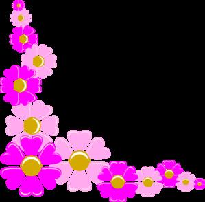 Floral Decorative Corner Clip Art