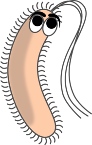 Modified Funny Bacteria Clip Art