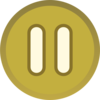 Gold Brown Plain Pause Button Icon Clip Art
