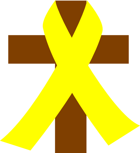 Cross with Ribbon