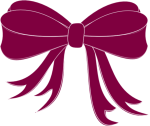 Purple Bow Ribbon Clip Art