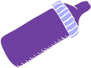 Purple Baby Bottle Clip Art
