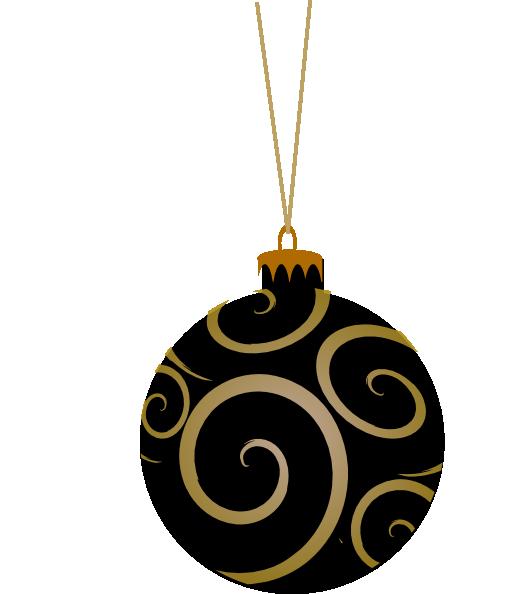 Black metallic ornament clip art at clker vector