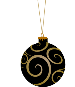 Black Metallic Ornament Clip Art