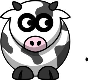 Cow Looking Right Clip Art