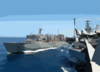 Usns Arctic (t-aoe 8), Steams Alongside Uss Theodore Roosevelt During An Underway Replenishment (unrep) Clip Art
