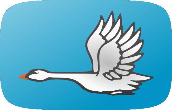 Flying Swan Clip Art at Clker.com - vector clip art online ...