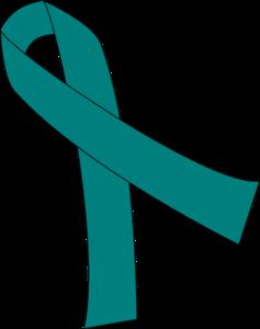 teal ribbon for cancer clip art at clker com vector clip Brain Cancer Awareness Ribbon Clip Art Ovarian Cancer Team Shirts
